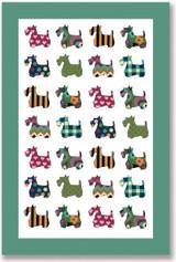 Scottie Patterns 100% Cotton Tea Towel from Ulster Weavers