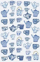 Teacups Tea Towel
