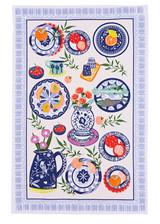 Mediterranean Plates Tea Towel