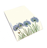 Agapanthus padblock/memo pad from British artist Emma Ball.