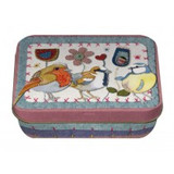 Emma Ball Stitched Birdies Mini Rectangular Tin