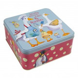 Animal Magic Large Square Tin