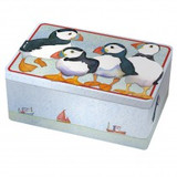 Emma Ball Puffins Rectangular Box Tin