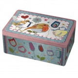 Emma Ball Stitched Birdies Rectangular Box Tin