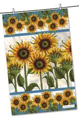Sunflower 100% cotton tea towel from Emma Ball.