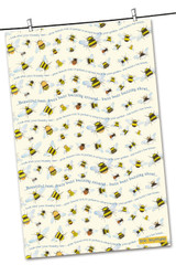 Bees 100% cotton tea towel from Emma Ball. Designed by Eric Heyman.