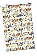 Stitched Birdies 100% Cotton Tea Towel from Emma Ball.