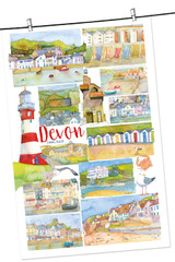100% Cotton Devon by Emma Ball Tea Towel