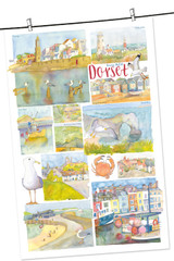 100% Cotton Dorset by Emma Ball Tea Towel