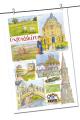 100% Cotton Oxfordshire by Emma Ball Tea Towel