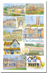 100% Cotton The Cotswolds by Emma Ball Tea Towel