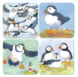 Puffins Coasters - Set of 4 from Emma Ball