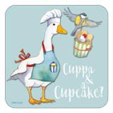 Cuppa & a Cupcake Coaster by Emma Ball.