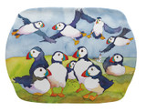 Playful Puffins Melamine Scatter Tray