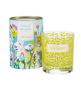 Love Olli Cotton Meadow scented candle in glass. Hand poured in the UK.