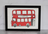 Simply London Bus Print from Victoria Eggs.