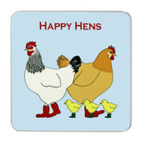 Emma Lawrence Happy Hens Coaster