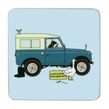 Emma Lawrence Blue Farm Vehicle Coaster