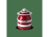 Cornishware Striped Sugar Storage Jar - red
