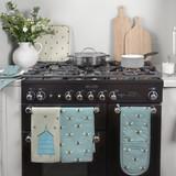 Sophie Allport Bees Teal Double Oven Glove
