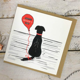 Happy Mother's Day Black Lab Card from Lucky Lobster art