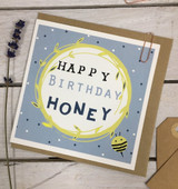 Happy Birthday Honey Lab Card from Lucky Lobster art