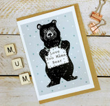 Love You Mama Bear Card from Lucky Lobster Art