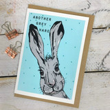 Another Grey Hare Card from Lucky Lobster Art