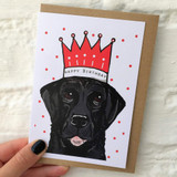 Black Labrador Happy Birthday Card from Lucky Lobster Art