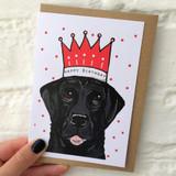 Black Labrador Happy Birthday Card from Lucky Lobster Art