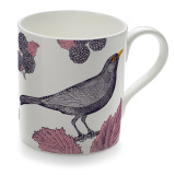 Blackbird & Bramble Bone China Mug from Thornback & Peel