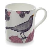 Blackbird & Bramble Bone China Mug from Thornback & Peel