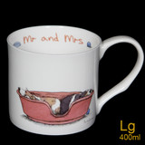 Mr & Mrs Bone China mug by artist Anita Jeram.