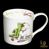 Ready to Go mug by artist Anita Jeram.