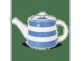 Cornishware Striped Large Rosie Teapot - blue