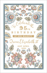 100% Cotton tea towel by Ulster Weavers to celebrate The Queen's 95th Birthday