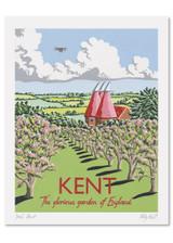 Kelly Hall Kent Print. Printed in England.