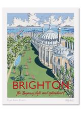 Kelly Hall Brighton Pavilion Print. Printed in England.