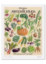 Kelly Hall Fresh Vegetables Print. Printed in England.