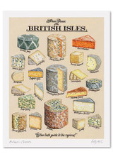 Kelly Hall Artisan Cheeses Print. Printed in England.
