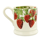Emma Bridgewater Vegetable Garden Strawberries Half Pint Mug. Handmade in England.