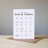 Life is Better with Gin & Tonic Card from Everlong Print Co. Made in England