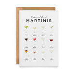 Shaken, Not Stirred Martinis Card from Everlong Print Co.