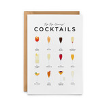 Sip-Sip-Hooray-Cocktails-Card from Everlong Print Co. Made in England.