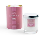 Rhubarb & Peony glass candle from Marmalade of London.