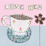 Love Tea Card by Poppy Treffry.