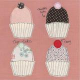 Four Cakes Card by Poppy Treffry.