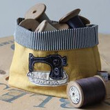 Poppy Treffry embroidered small Sewing storage pot.