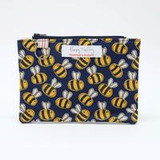 Busy Bee Flat Purse with Keyring by Poppy Treffry.