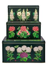 Madame Treacle Midnight Botanical Set of 3 Square Cake Tins.